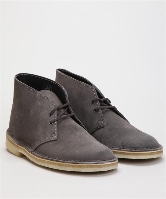 Clarks Originals Desert Boot Slate Grey Suede Shoes