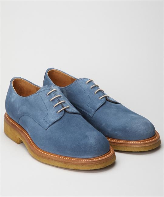 Fiddler Pike-Light Blue Suede Shoes