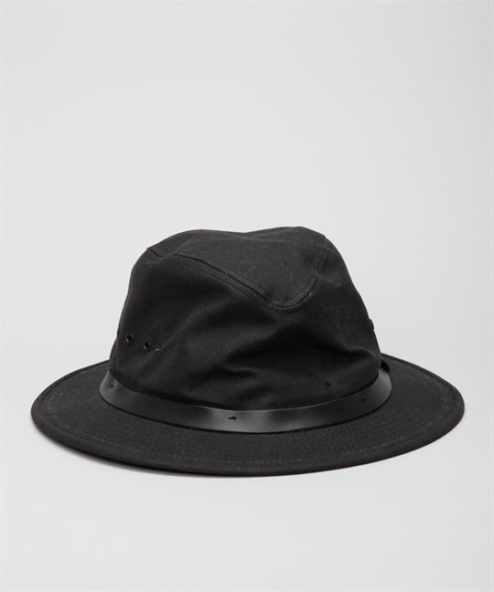 Filson Packer Hat: Filson Tin Cloth Packer Hat 60015 Black
