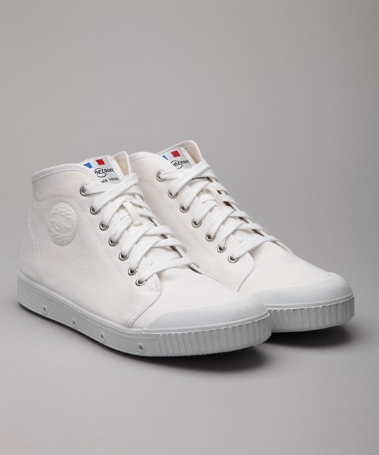 Spring Court Classic Mid Canvas B2 White Shoes Shoes