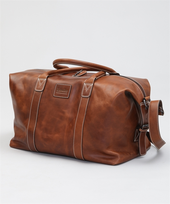 Loake Balmoral Weekend Bag-Brown Veg Tan Leather - Shoes ...