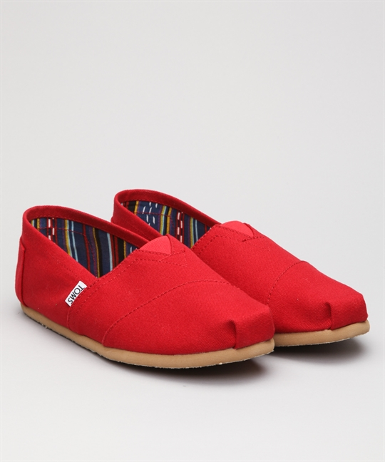 Toms Classic Canvas-Red Shoes - Shoes Online - Lester Store 331f11d6ceae