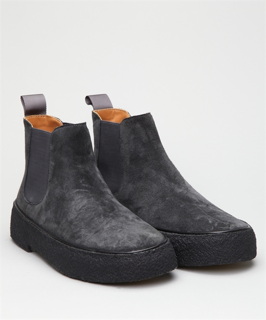 7aabfae58597 Playboy Original Chelsea Boot Womens-Grey Suede Shoes - Shoes ...