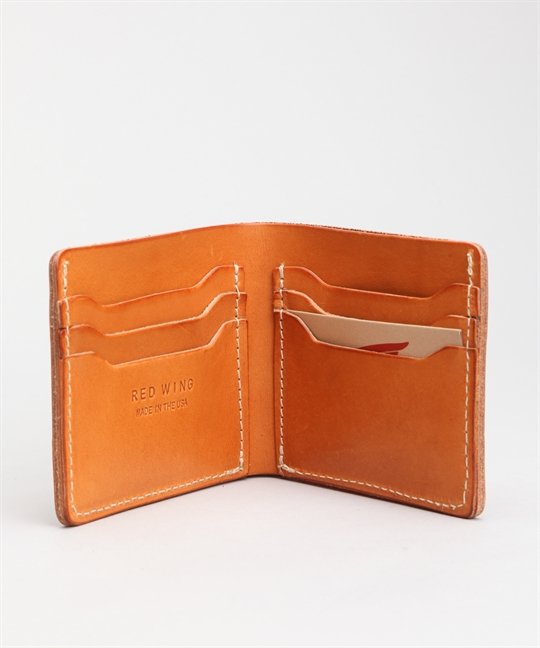 Red Wing Shoes Classic Bifold Wallet Veg Tan 95026