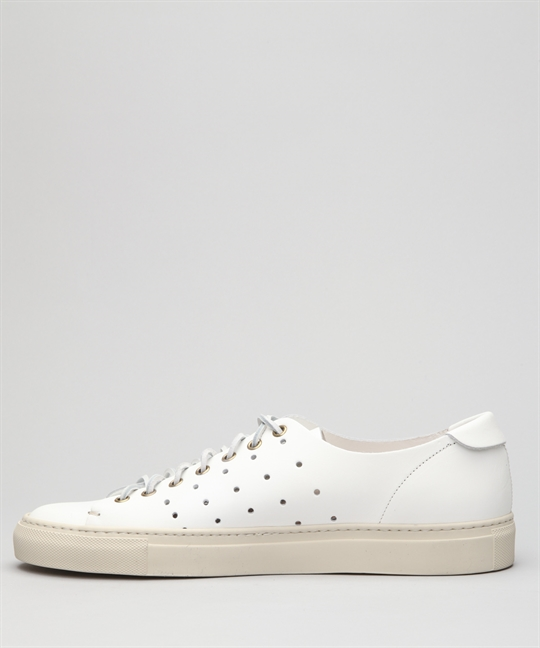 5f5b74e22 Buttero Tanino Low-White Perf Leather Shoes - Shoes Online - Lester Store