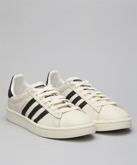 01e97b07d0e6 Adidas Campus-White Black CQ2070 Shoes - Shoes Online - Lester ...