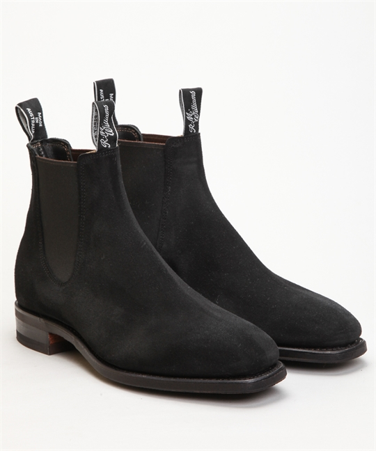 RM Williams Blaxland Black Suede 1